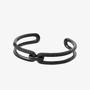 MICHAEL KORS MKJ6948001 Black-Tone Chain-Link Cuff